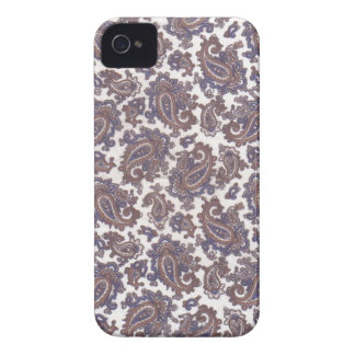 Paisley White and Gold iPhone 4 Barely There Case