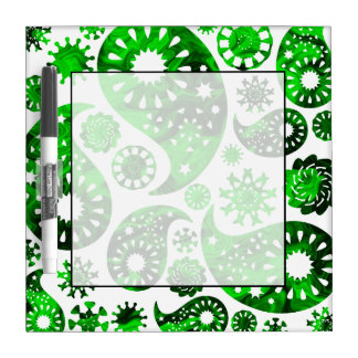 Paisley with Green Swirl Pattern. Dry-Erase Board