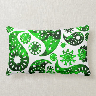 Paisley with Green Swirl Pattern. Pillow