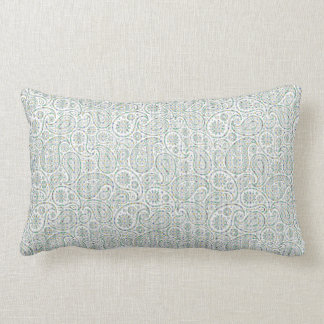 Paisley with Light Green Rombic Design Pillows