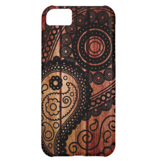 paisley wood panels case for iPhone 5C
