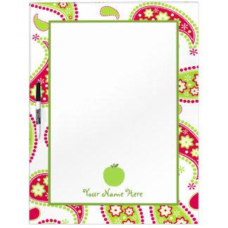 Paisley y Apple grandes secan al tablero del borra Pizarra Blanca