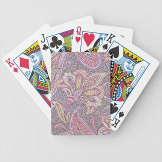Paisley y estampado de plores barajas de cartas