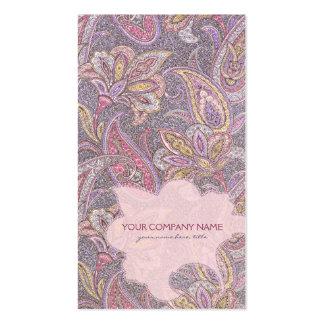 Paisley y estampado de plores plantillas de tarjetas personales