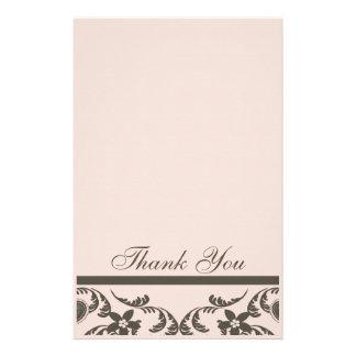 Paisley y florales le agradecen las tarjetas  papeleria