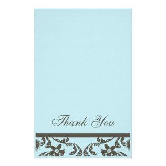 Paisley y florales le agradecen las tarjetas papeleria de diseño