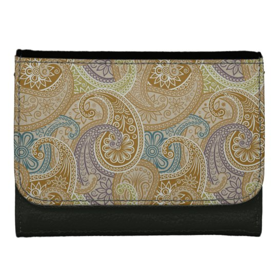 Paisleys 5 - Leather Wallet