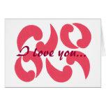 Paisleys en el amor, tarjeta de la propuesta de ma