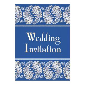 Paisleys Indian/Jewish Wedding Flat Invitation