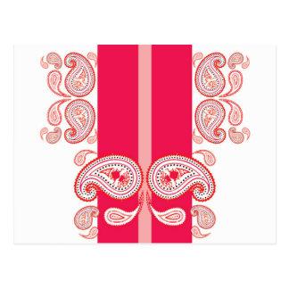 Paisleys rosados postal