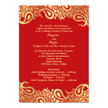 "Paisleys Wedding with Programs Flat Invitation 5"" X 7"" Invitation Card"