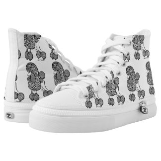 Paisly Poodle Hightop shoes