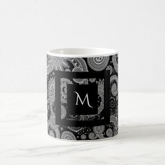 Paisly with Framed Initial Coffee Mug