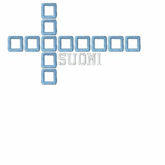Paita del lippu de Suomen - camiseta cruzada de Fi