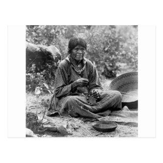 Paiute Basket Maker, 1902 Postcard