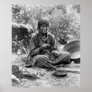 Paiute Basket Maker: 1902 Poster