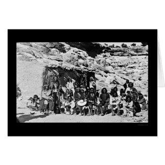 Paiute Indian Adobe House 1912 Card