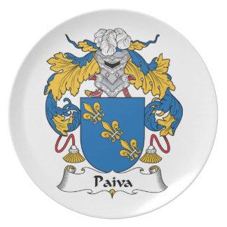 Paiva Family Crest Dinner Plate