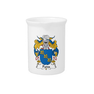 Paiva Family Crest Drink Pitcher