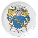 Paiva Family Crest Plates