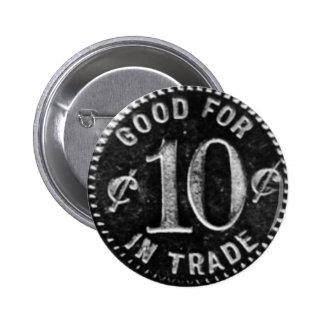 Pajakowski Tavern 10 Cent Token Pinback Button