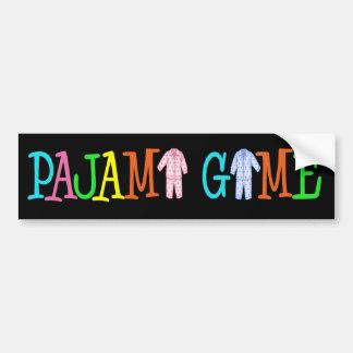 Pajama Game Car Bumper Sticker