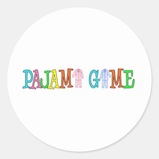 Pajama Game Classic Round Sticker