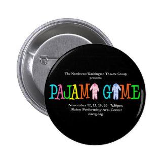 Pajama Game NWTG Pinback Buttons