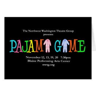 Pajama Game NWTG Greeting Card