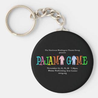 Pajama Game NWTG Basic Round Button Keychain