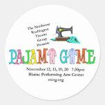 Pajama Game NWTG Round Stickers