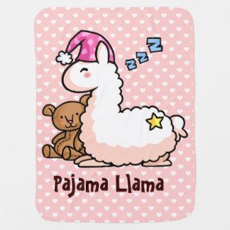 Pajama Llama Swaddle Blanket