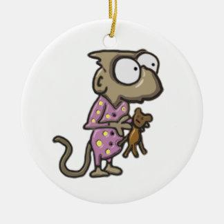 Pajama Monkey Ornament