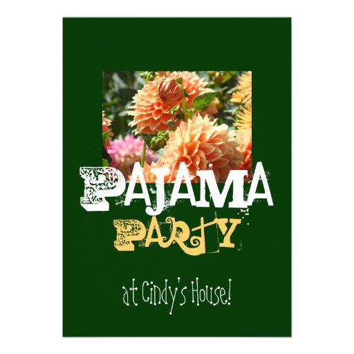 Pajama Party at Your Name House! Invitations