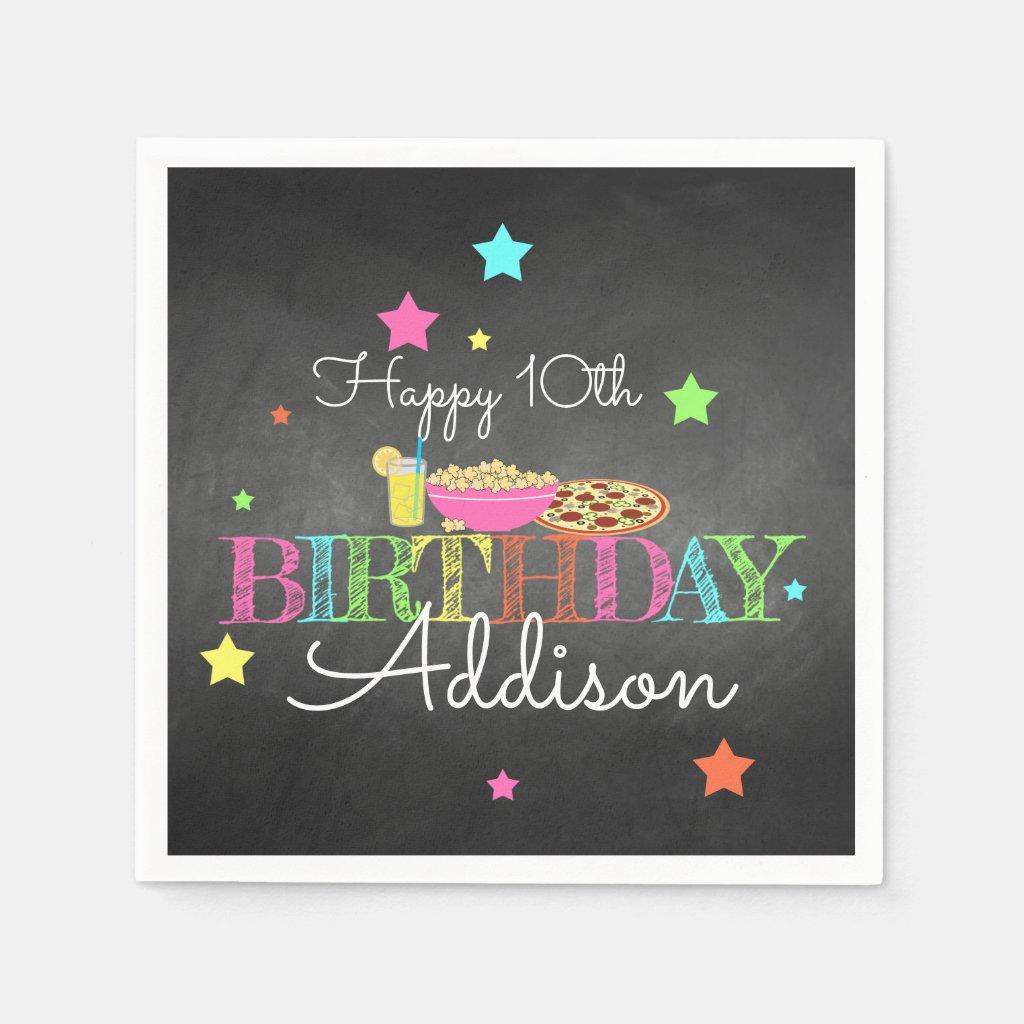 Pajama Party Birthday Paper Napkin