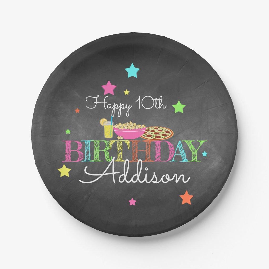 Pajama Party Birthday Paper Plate