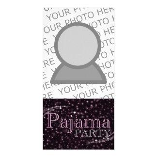 pajama party gifts : pink starshine card