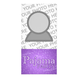 pajama party gifts : purple starshine card