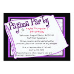 Pajama Party in Black and Purple Custom Announcement
