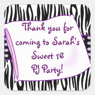 Pajama Party in Purple Sticker