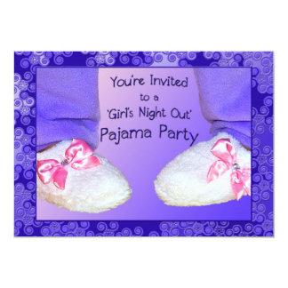 "Pajama Party Invitations 5"" X 7"" Invitation Card"