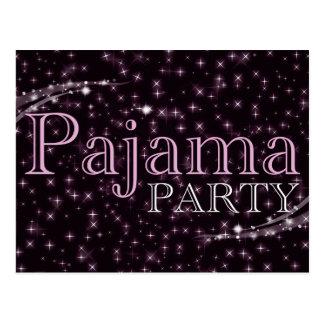 pajama party invitations : starshine postcard