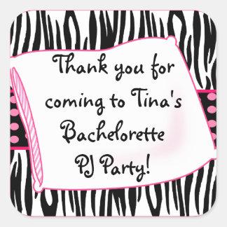 Pajama Party Pinks Sticker