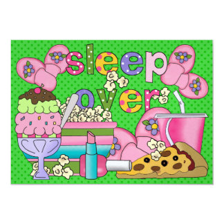 Pajama Party / Sleep Over - SRF 5x7 Paper Invitation Card