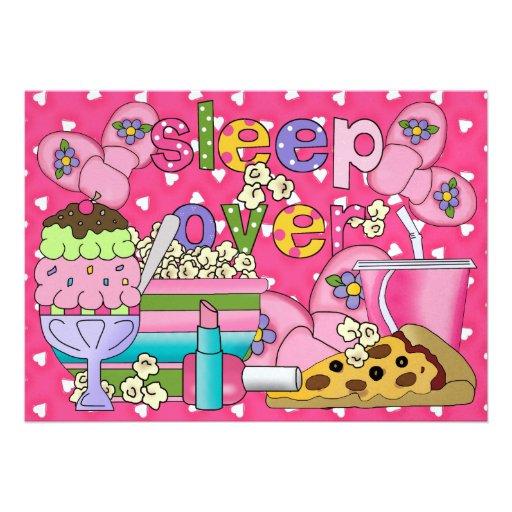 Pajama Party / Sleep Over - SRF Custom Invitations