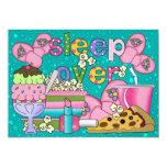"Pajama Party / Sleep Over - SRF 5"" X 7"" Invitation Card"