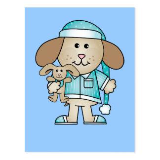 Pajama Puppy & Lovey Bunny Postcard