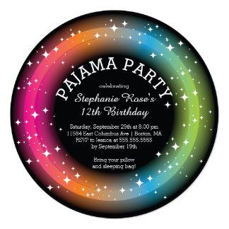 Pajama Sleepover Birthday Party Invitations