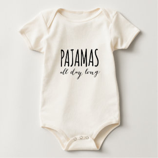 Pajamas all day long baby bodysuit