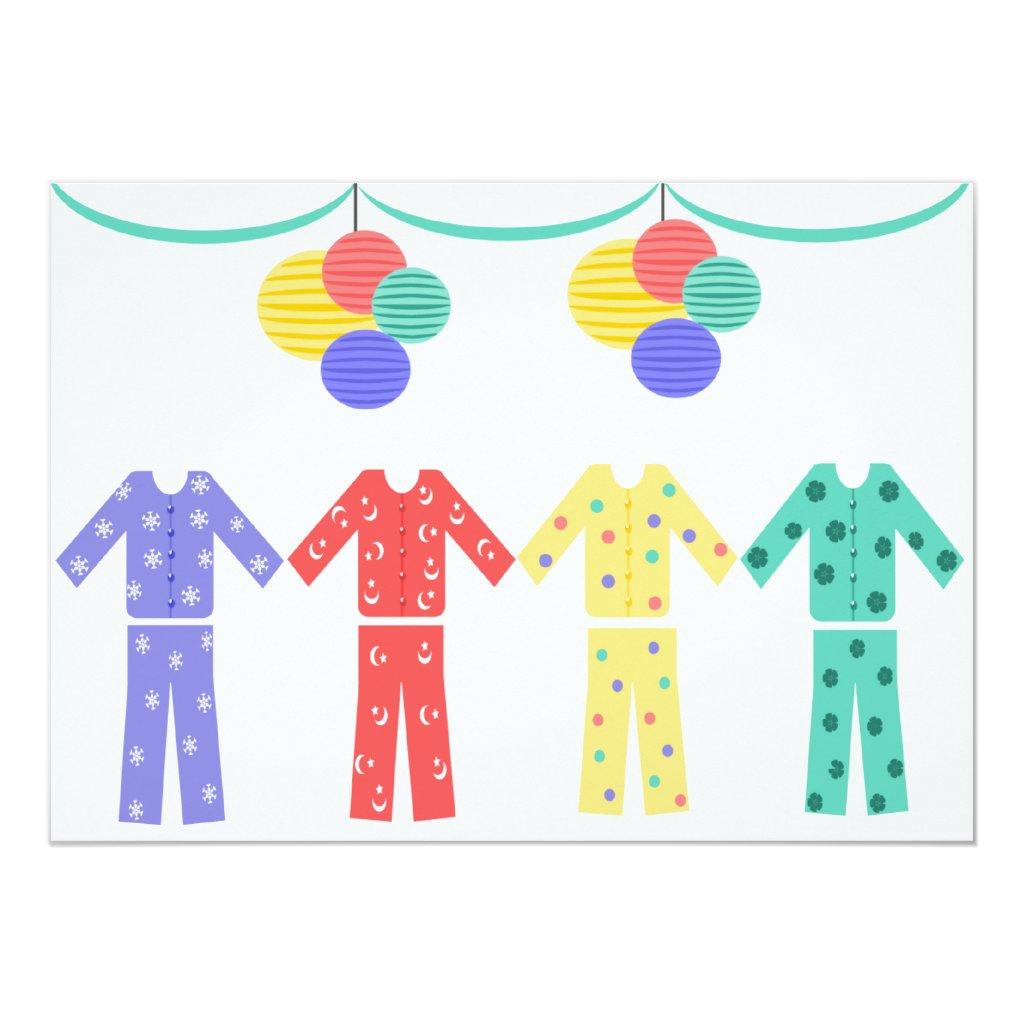 Pajamas In A Row Pajama Party
